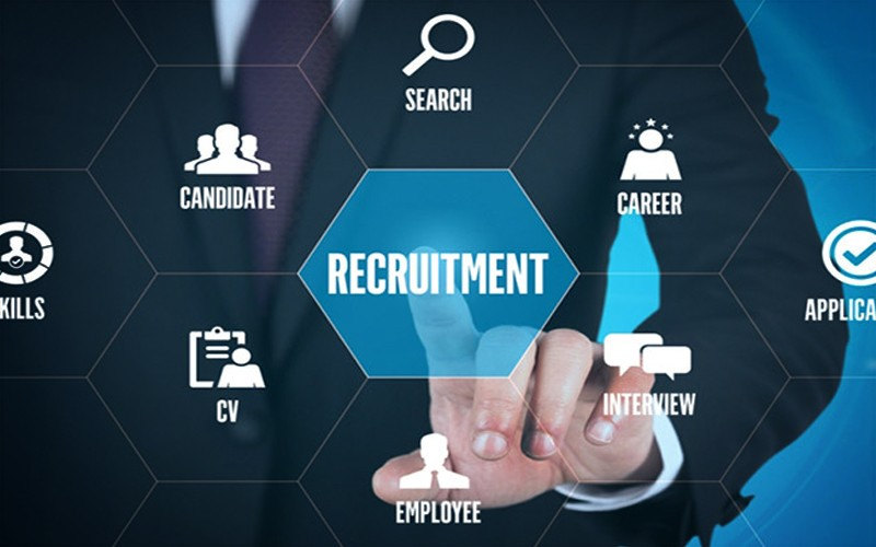 Best Fit - Recruitment - Business Person Touching Digital Grid