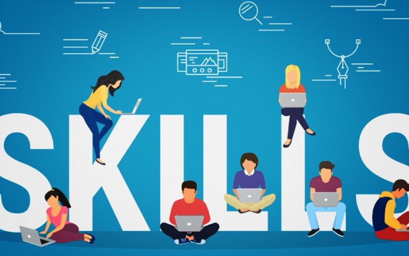 Best Skills - Illustrated People Working On Laptops