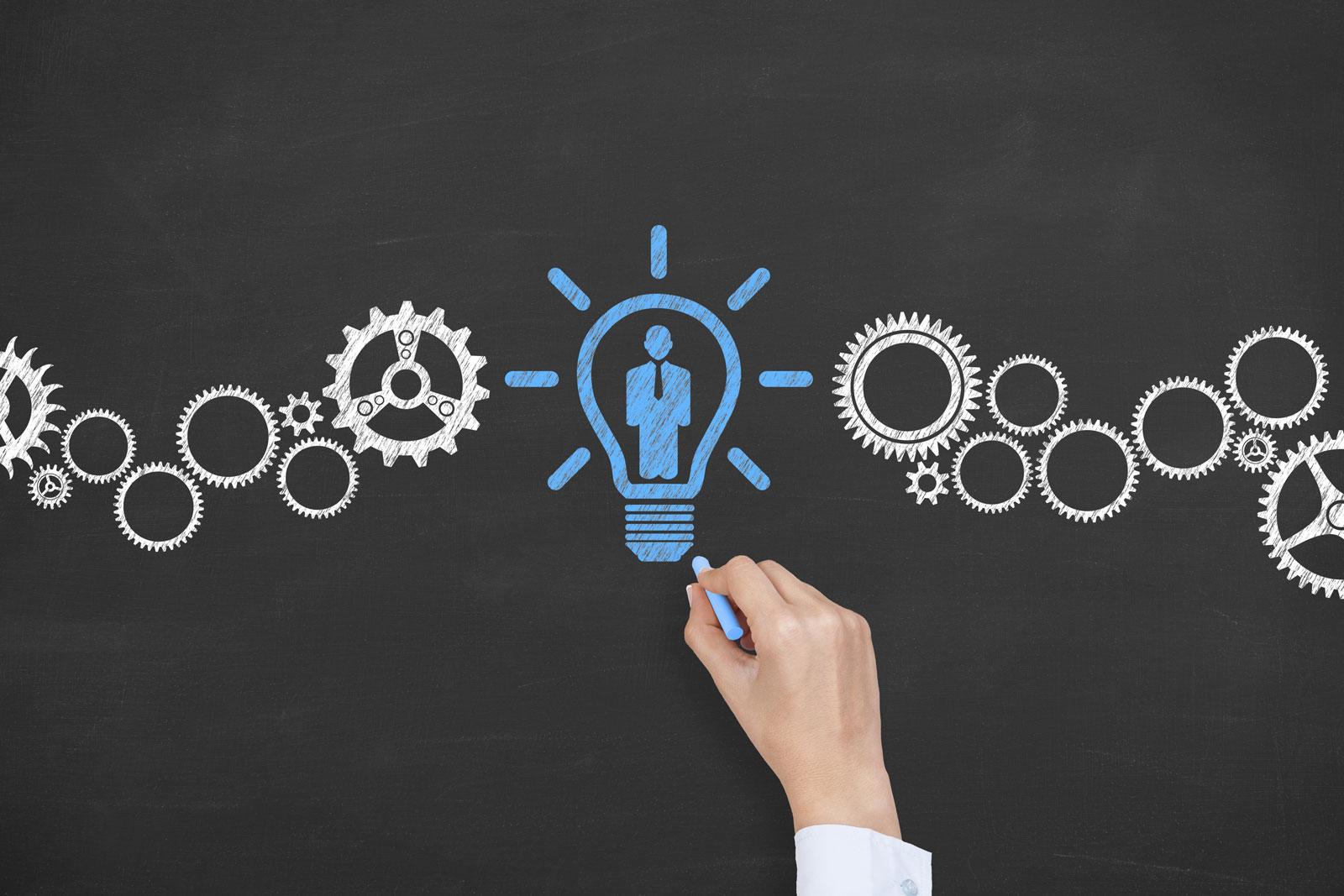 Best HR Tech - Blue Light Bulb On Chalkboard