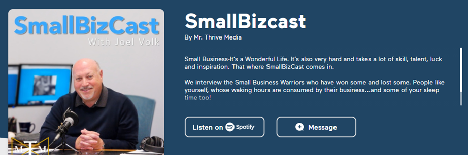 Small Bizcast Podcast Image - Click to go to podcast.